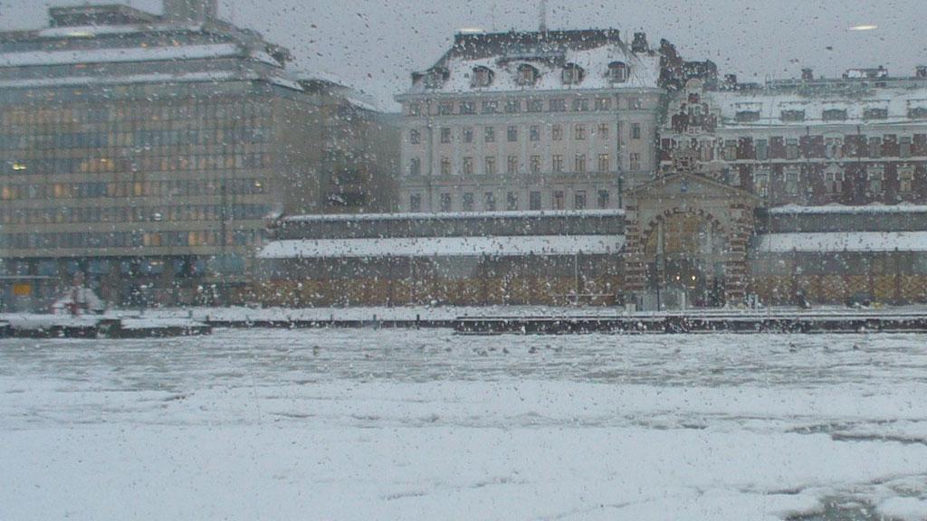 Frozen sea, from the ferry from Helsinki to Suomenlinna Island.