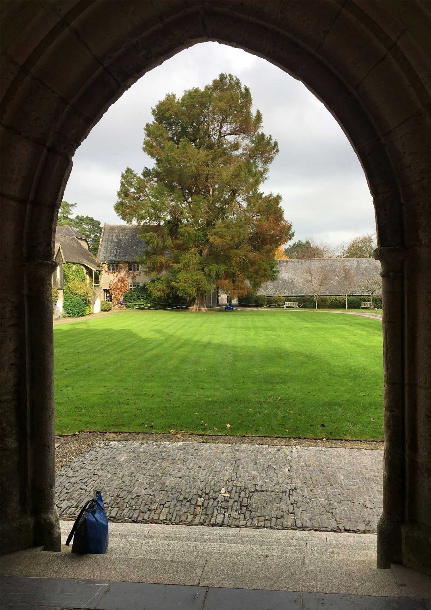 view through great hall entrance archway